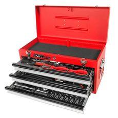 Набор инструментов 65 предметов слесарно-монтажный в переносном инструментальном ящике (3 лотка), фото 1