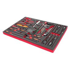 Набор инструментов 43 предмета слесарно-монтажный в ложементе, фото 1