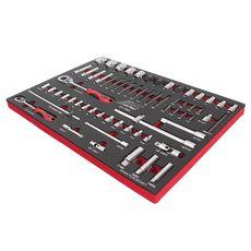 Набор инструментов 63 предметов слесарно-монтажный (1-ая секция) в ложементе, фото 1