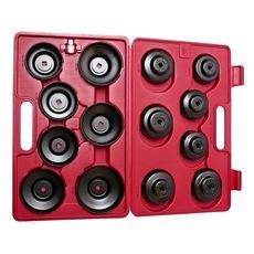 Съемник фильтров масляных в кейсе 14 предметов чашка, фото 2