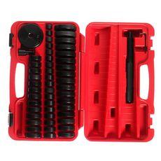 Набор оправок для выпрессовки подшипников, втулок, сальников 18-74мм 50 предметов в кейсе, фото 2