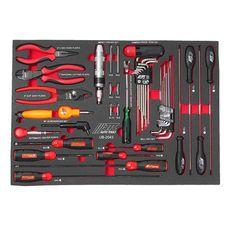 Набор инструментов 43 предмета слесарно-монтажный в ложементе, фото 2