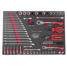 Набор инструментов 60 предметов слесарно-монтажный в ложементе, фото 2