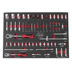Набор инструментов 63 предметов слесарно-монтажный (1-ая секция) в ложементе, фото 2