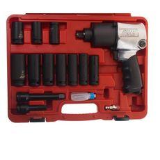 Набор инструментов для шиномонтажа (с пневмогайковертом-3202) 15 предметов в кейсе, фото 2