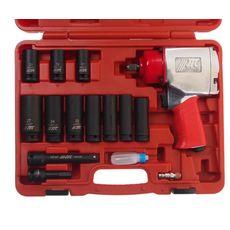 Набор инструментов для шиномонтажа (с пневмогайковертом-5812) 15 предметов в кейсе, фото 2