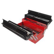 Набор инструментов 75 предметов в переносном инструментальном ящике (5 лотков), фото 2