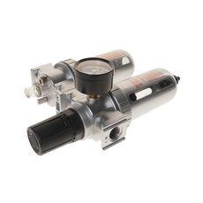 "Блок подготовки воздуха (лубрикатор,осушитель) 3/8"" пластик. переключ. 215PSI 2500л/мин. 125мл, фото 2"