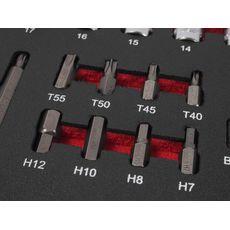 Набор инструментов 63 предметов слесарно-монтажный (1-ая секция) в ложементе, фото 3