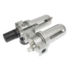 """Блок подготовки воздуха (лубрикатор,осушитель) 1/2"""" металл. переключ. 250PSI 3000л/мин. 150 мл, фото 3"""
