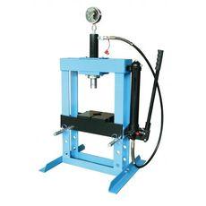 Пресс гидравлический 10 т низкий, с насосом и гидропоршнем с манометром (ход 175 мм) (UNITRAUM UNY10, фото 1