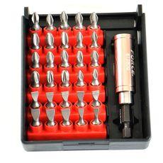 Набор бит PH,PZ,SL с магнитным держателем в мини кейсе, 31 шт. FORCE 2314B, фото 1