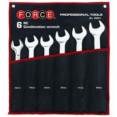 Набор комбинированных ключей 32,34,36,38,41,46 мм в скрутке 6 предметов FORCE 50651, фото 1