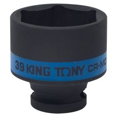 "Головка торцевая ударная шестигранная 1/2"" 39 мм KING TONY 453539M, фото 1"