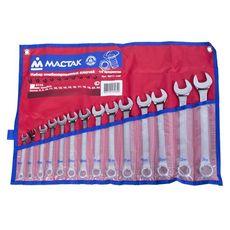 Набор комбинированных ключей 14 предметов МАСТАК 0211-14P 8-24 мм, фото 1