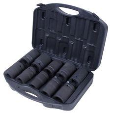 """Набор глубоких торцевых головок 1"""" 10 предметов МАСТАК 100-68010C шестигранные 21-41 мм для мультипликатора, фото 1"""