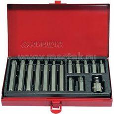 Набор вставок (бит) 10 мм, TORX, Т20-Т55, 15 предметов KING TONY 1015PQ, фото 1