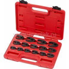 Набор разрезных ключей 15 предметов МАСТАК 0261-15C (воронья лапка) 8-24 мм кейс в кейсе, фото 1