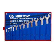 Набор рожковых ключей 12 предметов KING TONY 1112MRN 6-32 мм  чехол из теторона, фото 1