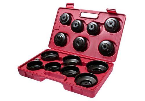 Съемник фильтров масляных в кейсе 14 предметов чашка, фото 1